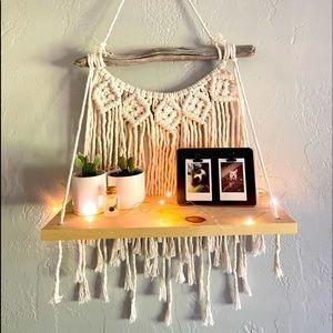 💋 Handmade Macrame hanging shelf